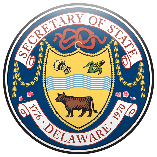 Image of the Delaware Department of State Seal