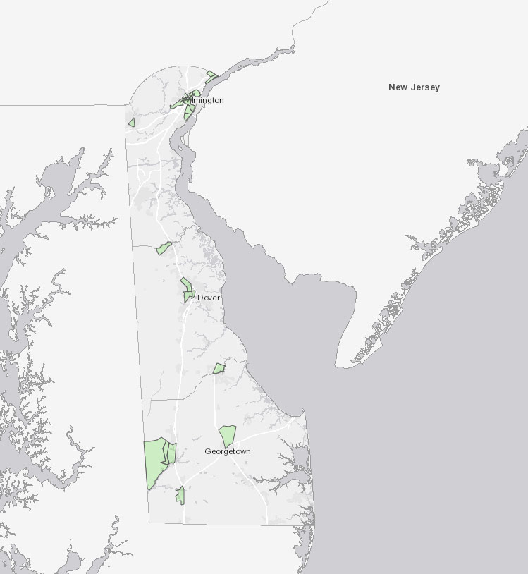 Screenshot of the Opportunity Zones Map