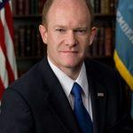U.S. Senator Chris Coons speaks at export conference in Wilmington.