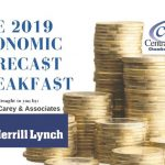 Hear about what's ahead for the economy in 2019 at the Central Delaware Chamber of Commerce Economic Forecast Breakfast.
