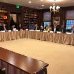 Image of the Council on Development Finance having a meeting at Buena Vista Conference Center